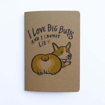 Corgi Butt Pocket Notebook
