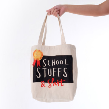 School Stuffs Tote Bag