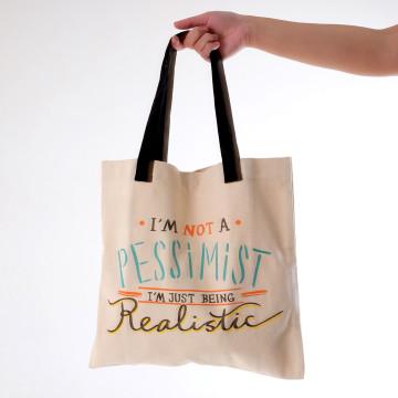 Pessimist Tote Bag