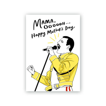 Freddie Mercury Mother's Day Card