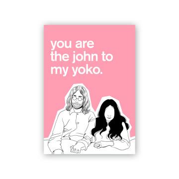 John Yoko Valentine Card