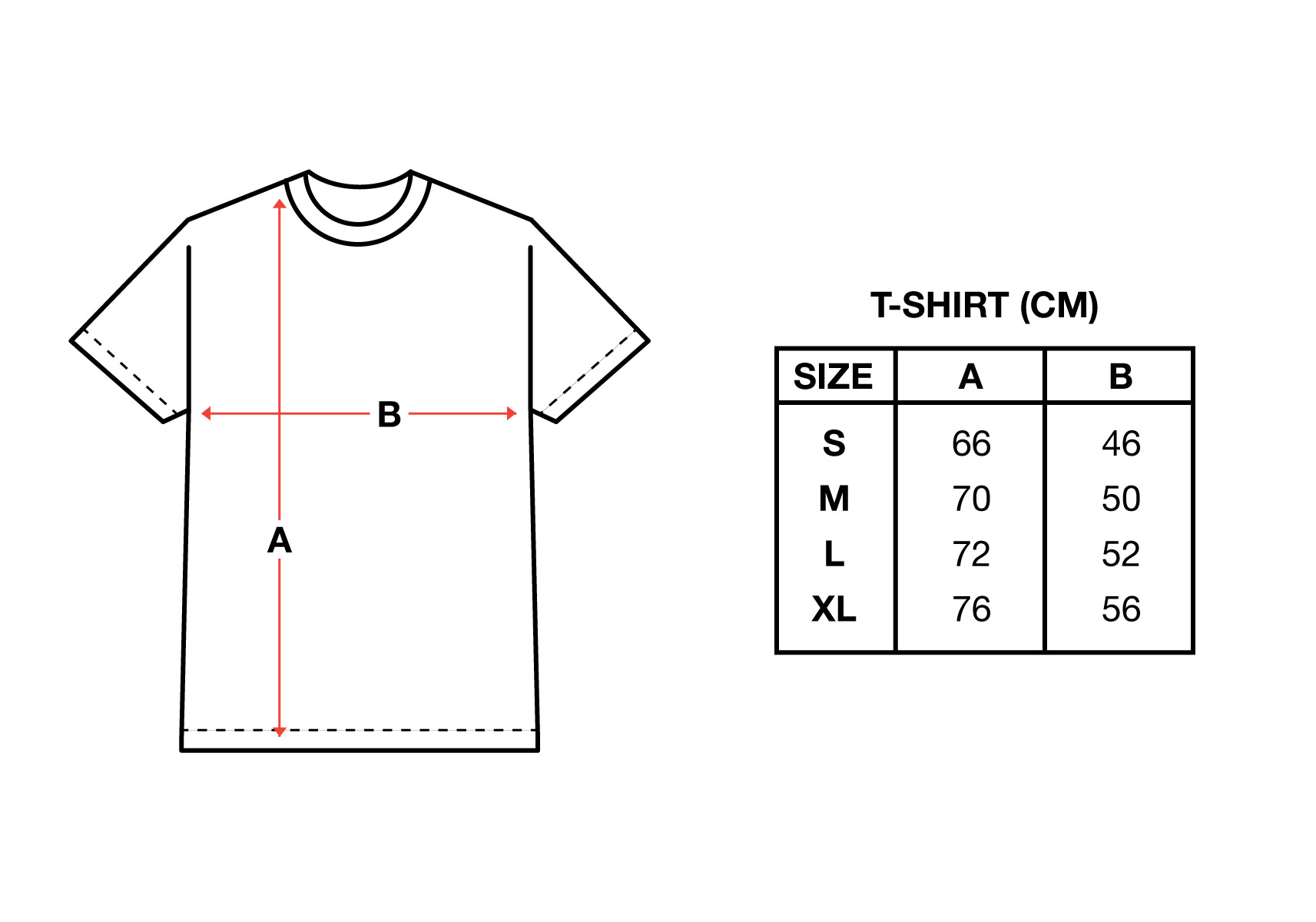 sizechart tshirt