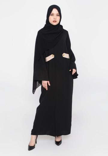 WAISTGOLD DRESS (BLACK)
