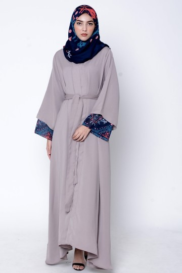 SAHILLA ABAYA (DUSTY GREY)