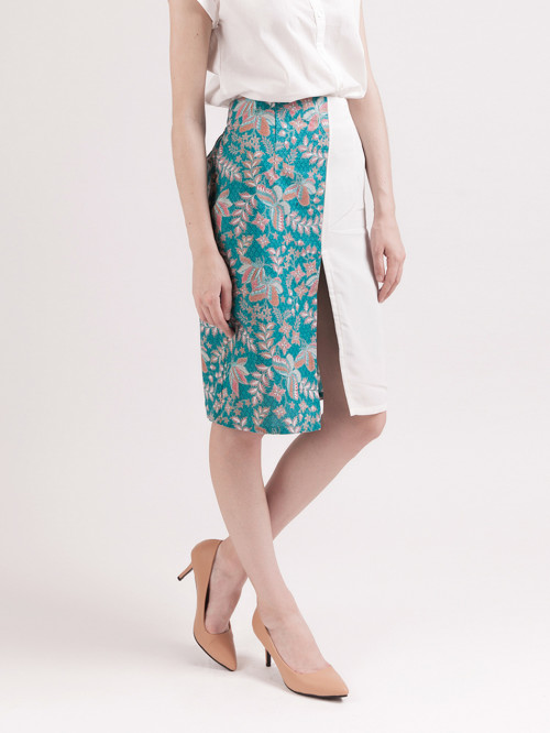 Rue Slit Skirt in Teal image