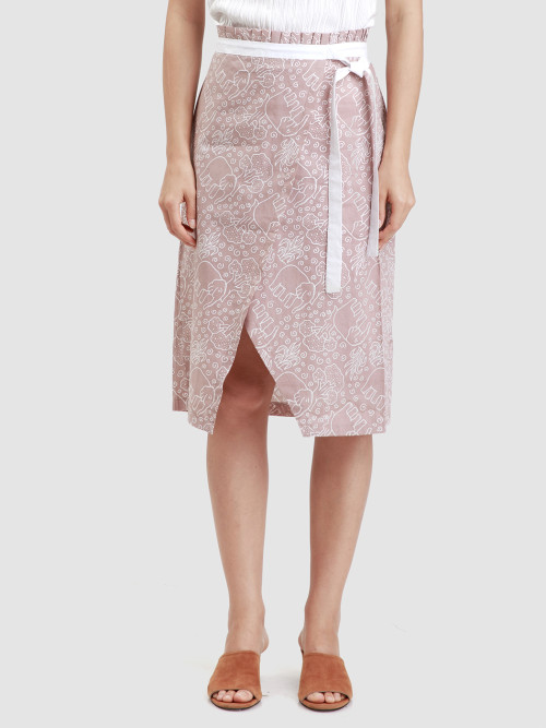 Wyn Wrap Skirt in Beige image