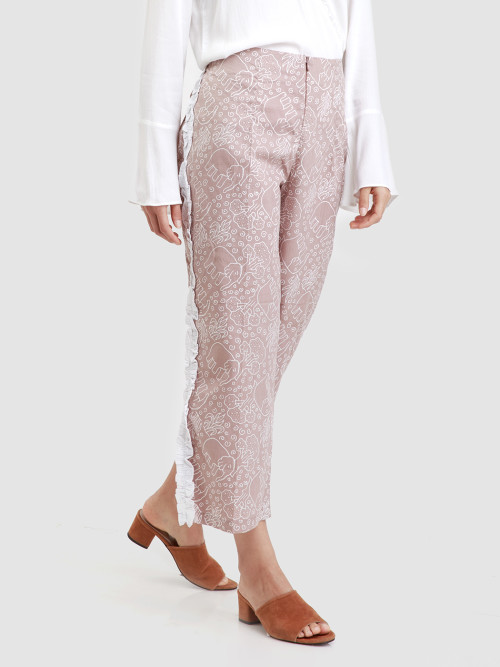 Laya Long Culottes in Beige image