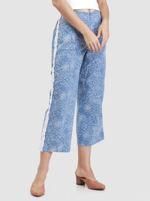 Laya Long Culottes in Blue image