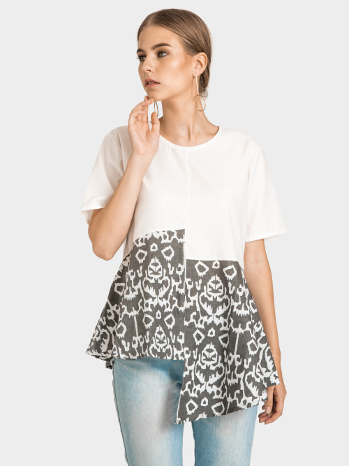 Raye Asymmetric Top in Grey image