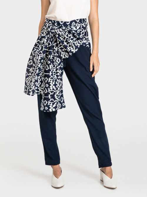 Moxie High Waist Pants in Navy image