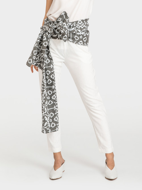 Moxie High Waist Pants in Grey image