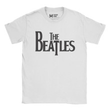 The Beatles Logo White