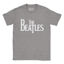 The Beatles Logo Ash Grey