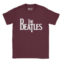 The Beatles Logo Maroon