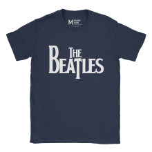 The Beatles Logo Navy