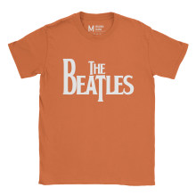 The Beatles Logo Orange