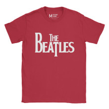 The Beatles Logo Red
