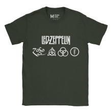 Led Zeppelin Symbol Forest Green