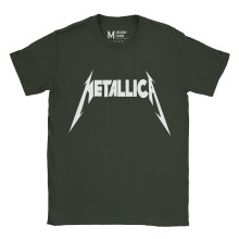 Metallica Logo Forest Green