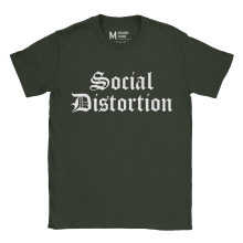 Social Distortion Logo Forest Green