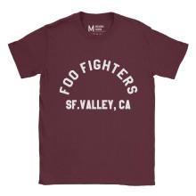 Foo Fighters SF Valley Maroon