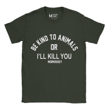 Morrissey Be Kind To Animals Forest Green