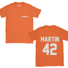 Coldplay Chris Martin Pocket 42 Orange
