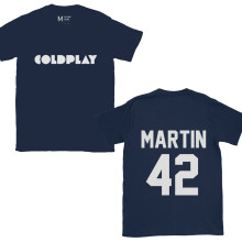 Coldplay Chris Martin 42 Navy