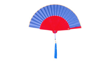 Plain Silk Fan BIue image