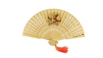Traditional Fan Print Balinese Legong Dance's image