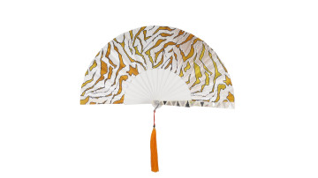 Sea Shell Fan Motive White Orange Camouflage image
