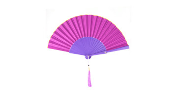 Plain Silk Fan Purple image