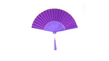 Plain Silk Fan Voilet Purple image