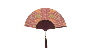 Ethnic Fan - Balinese Hand Weaving Light Brown image