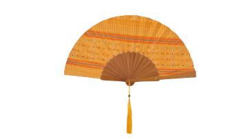 Ethnic Fan - Balinese Hand Weaving Yellow image