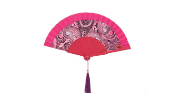 Motive Silk Twotone Fan Pink image
