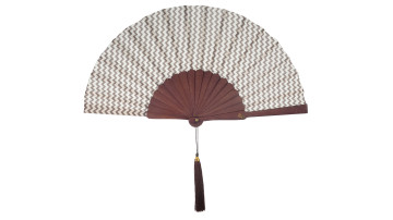 Motive Silk Fan White Brown image