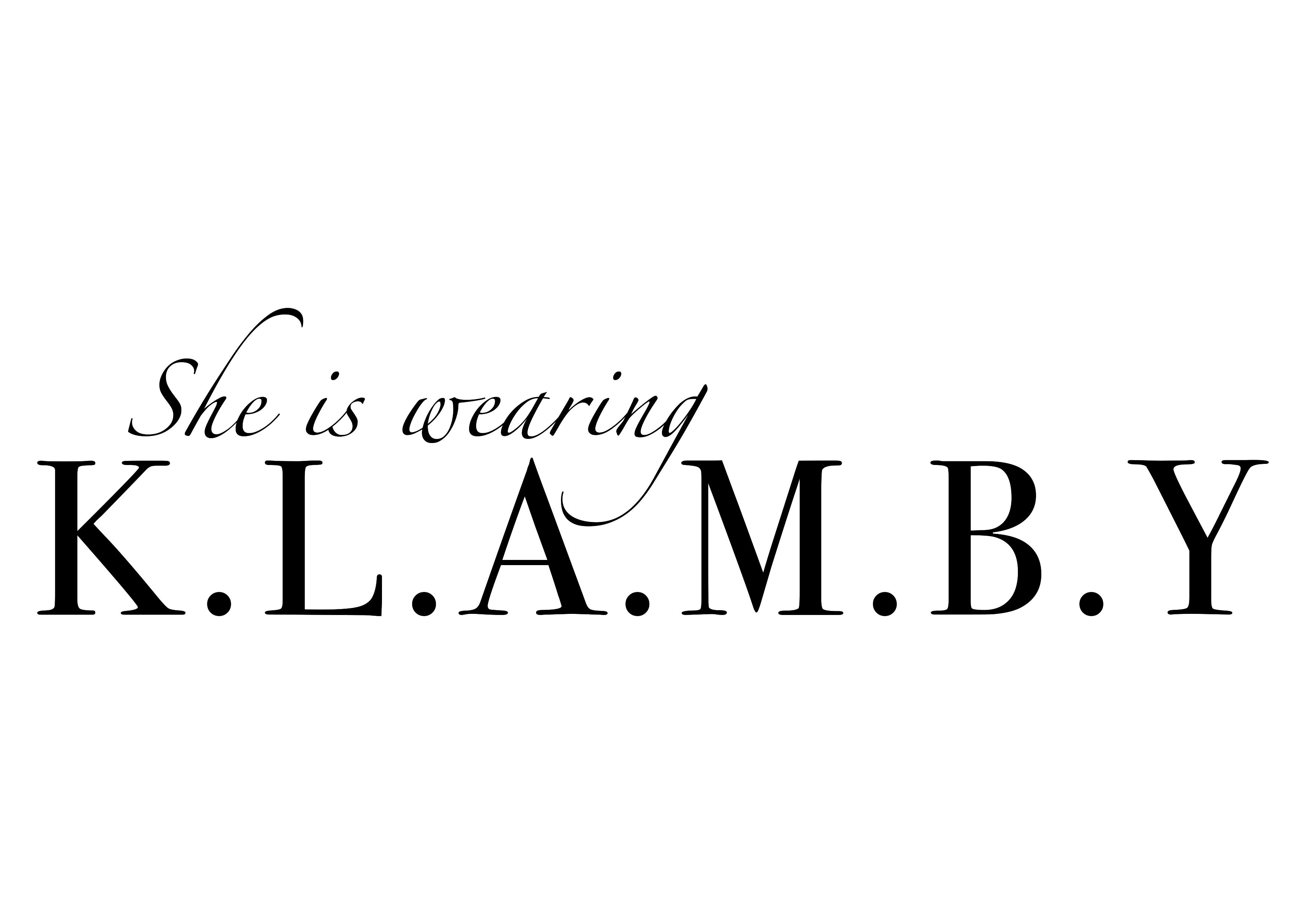 Wearingklamby