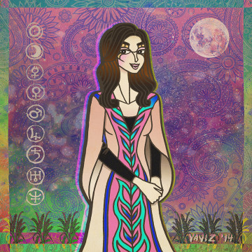 'The Moon-Loving Astrologer (Yasmin Boland)' by Yaviz Basalamah