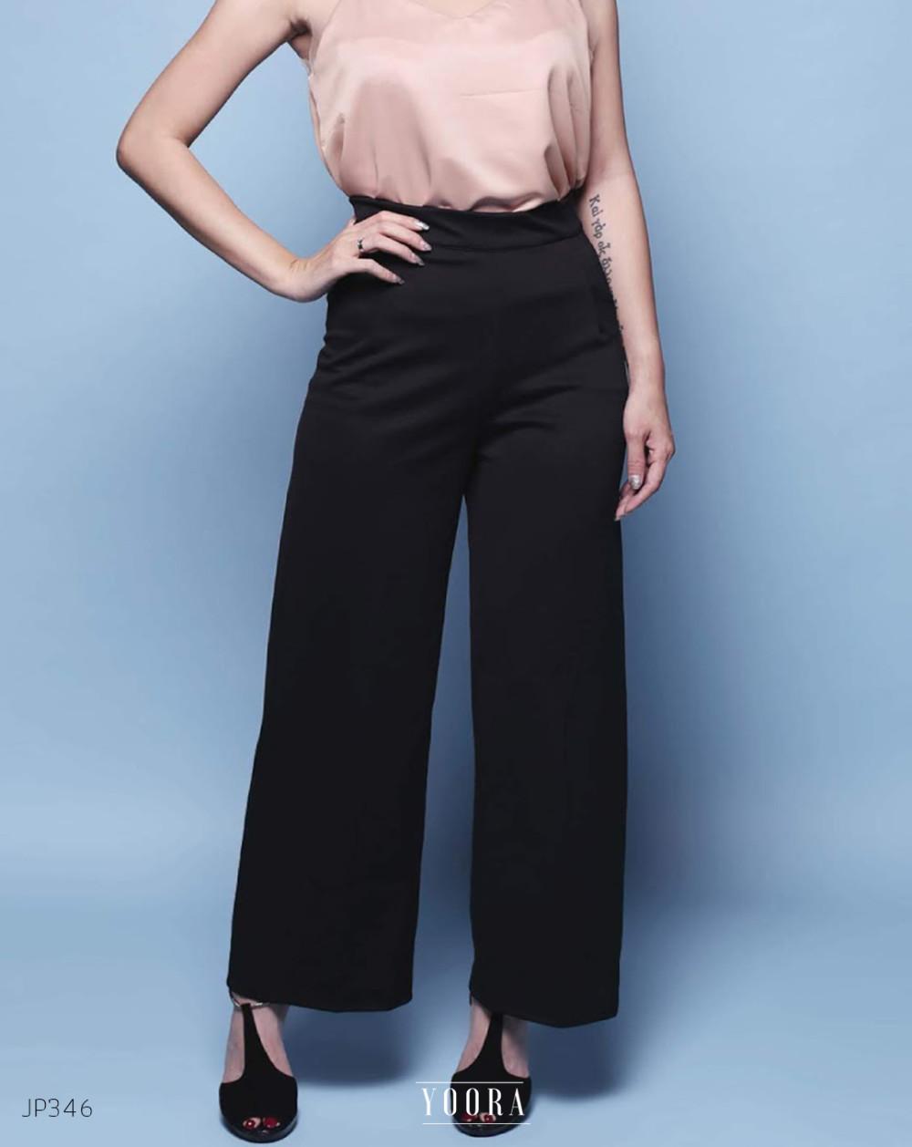 Celana kulot katun linen pants HW Highwaist premium murah