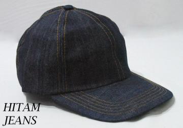 Baseball Cap Polos (Hitam Jeans) image