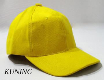 Baseball Cap Polos (Kuning) image