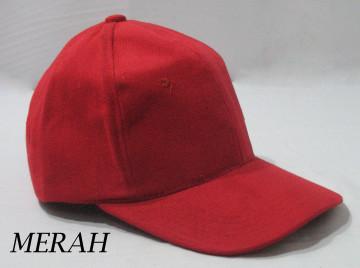 Baseball Cap Polos (Merah) image